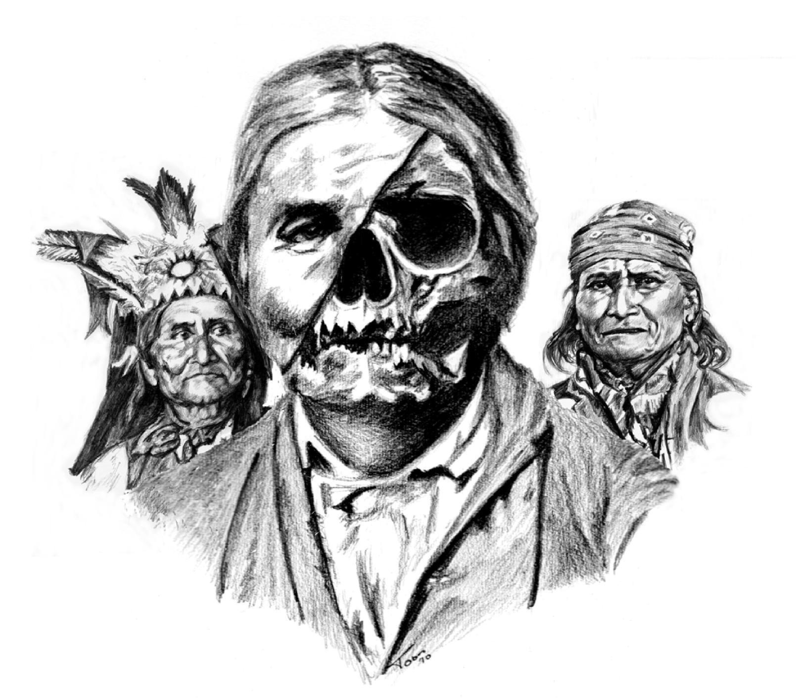 native american portraits geronimo drawings geronimo u0027s skull